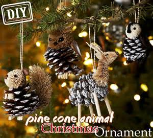 diy pine cone animal christmas ornament top easy party decor design project way to be happy