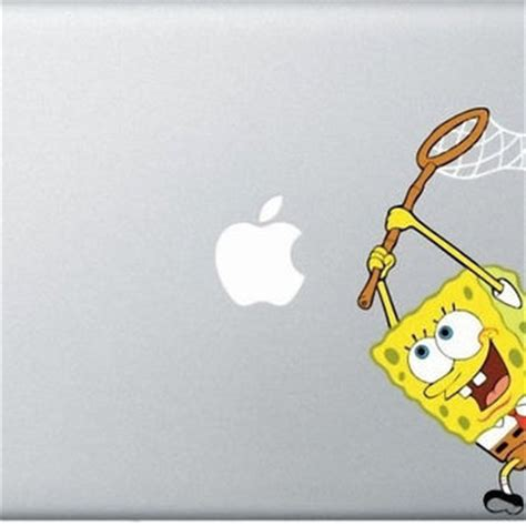 Wallpaper Sticker Spongebob 1 spongebob macbook decals mac decals from reindeernose on etsy
