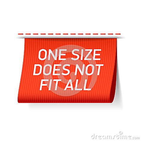 one size does not fit all acknowledging and addressing whatã s wrong with american education books one size does not fit all label stock vector image 61813316