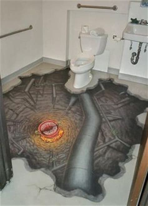 bathroom floor illusions don t fall in abyss on bathroom floor