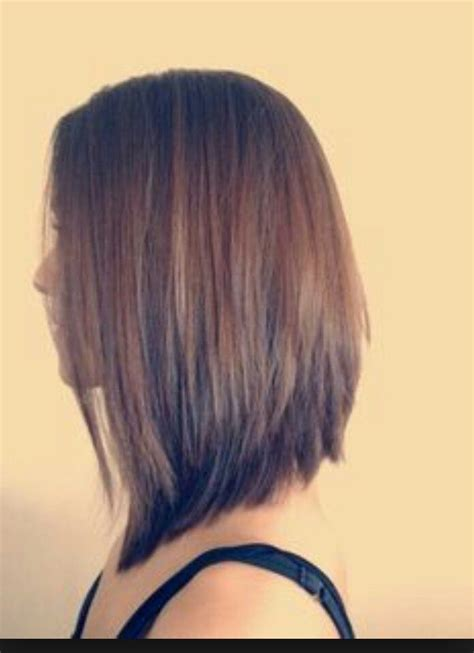 how cut one inch square bob triangular layers beautiful long inverted bob hairstyles pinterest