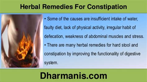 effective herbal remedies for constipation and stool