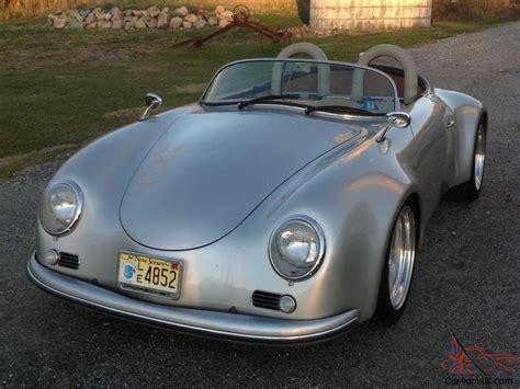 retro porsche custom vintage silver 1957 porsche speedster replica custom