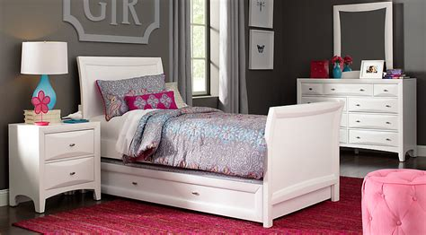 ivy league white  pc full sleigh bedroom teen bedroom sets colors