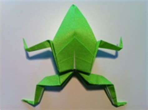 Make Frog From Paper - how to make a paper frog