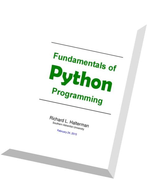 fundamentals of python programmin pdf magazine