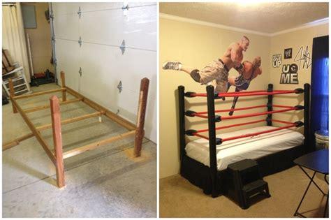wwe bedroom ideas wwe wrestling bed kids room diy step by step instructions