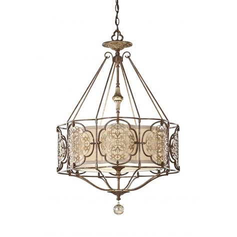 Traditional Pendant Lights Feiss Marcella Traditional Bronze Fretwork Ceiling Light