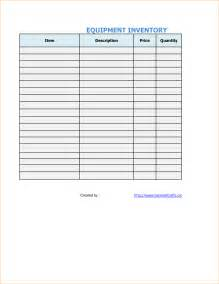 office equipment inventory template inventory list