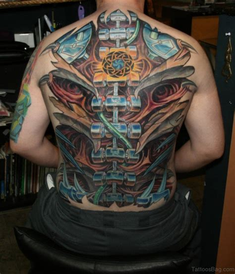 tattoo biomechanical back 84 amazing biomechanical tattoos on back