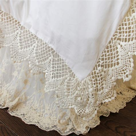 Lace Bed Skirt White Shabby Chic Floor L
