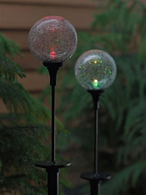 garden solar lights solar northern lights sphere garden