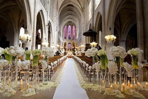 elegant wedding church decorations ideas