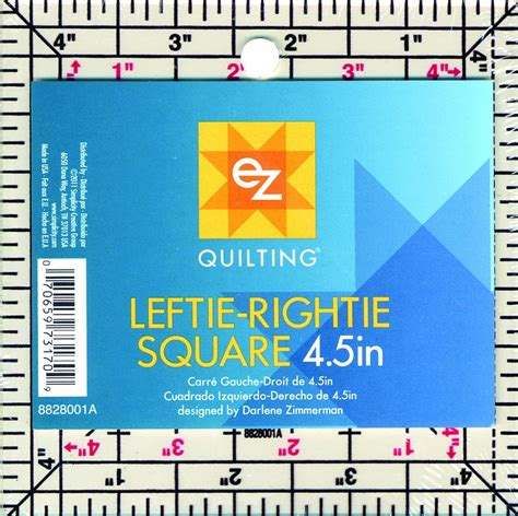 ez quilting template leftie rightie 4 5 square ruler