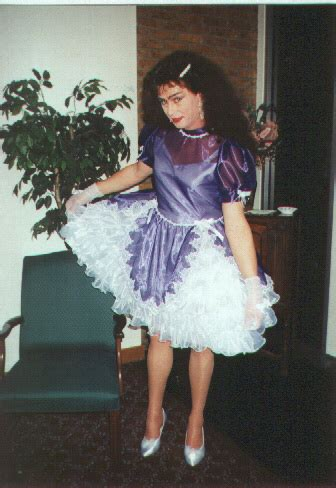 real sissy school purple sissy dress