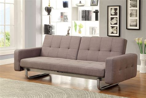 futon with arms contemporary brown futon sofa adjustable arm converts into bed