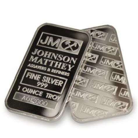 1 Ounce Silver Bar Size by 1 Troy Ounce Of Johnson Matthey Silver 999 Silver
