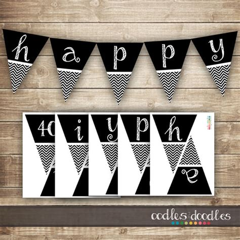 50th birthday banner template chevron birthday banner 30th 40th 50th printable birthday