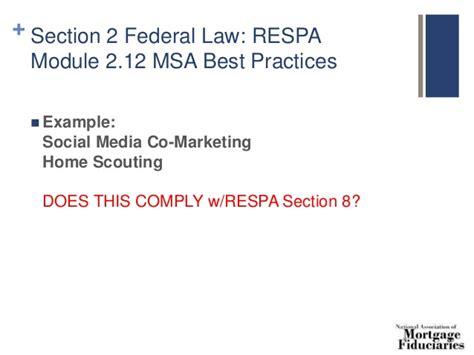section 8 of respa 8 hour safe loan originator continuing ed 2016