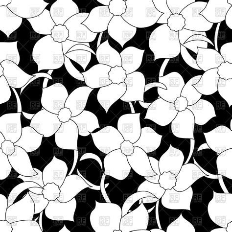 black and white flower clip white flower clipart flower pattern pencil and in color