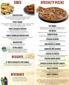 home delivery menu of papa johns papa s pizza menu menu for papa s pizza lake