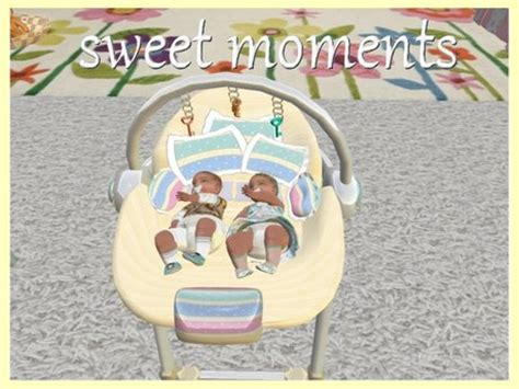 twin baby swings second life marketplace swing baby play twin