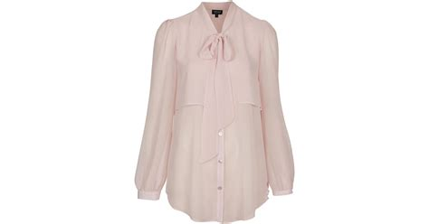 Caik Blouse Cape Abella Pink topshop cape pussybow blouse in pink lyst