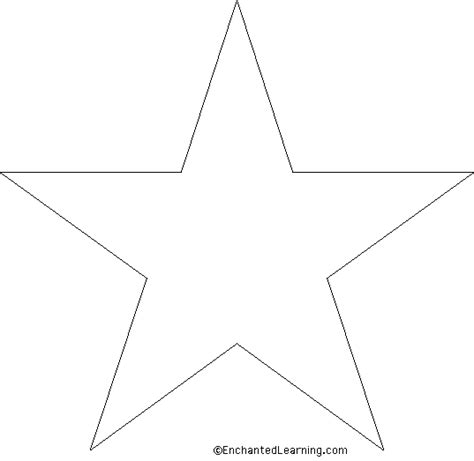 printable star a4 star template enchantedlearning com