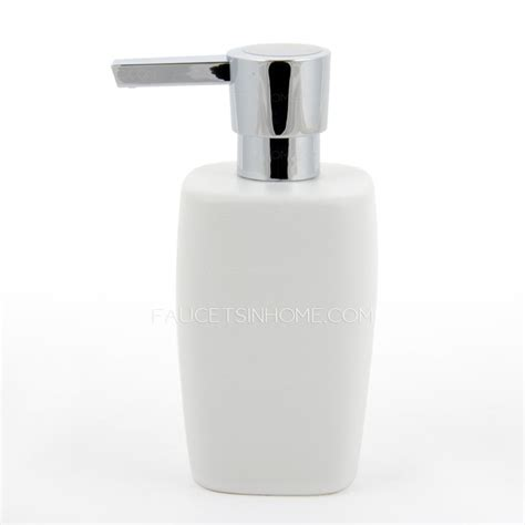 Bathroom Sets With Shower Curtain Modern White Ceramic Bathroom Soap Dispensers