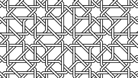 islamic pattern information islamic geometric pattern black and white
