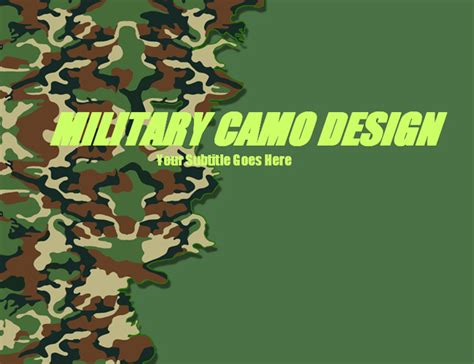 Camouflage Patterns Military Ppt Template Download Powerpoint Templates Free Ppt Templates Camouflage Powerpoint