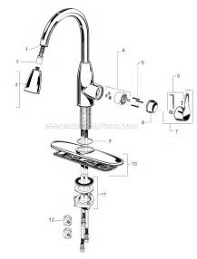 american standard kitchen faucet repair parts american standard 4175 300 parts list and diagram ereplacementparts com