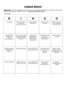 Human Bingo Template by Human Bingo Scavenger Hunt Template Classroom
