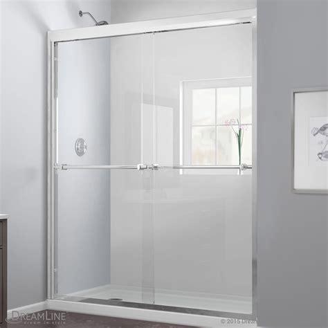 Bypass Shower Doors Bath Authority Dreamline Duet Frameless Bypass Sliding Shower Door And Slimline Single Threshold