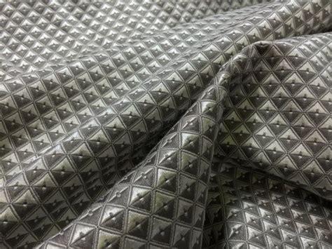 prestige curtain fabric silver grey geometric patterns diamonds vintage upholstery