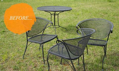 Metal Patio Furniture Furniture Slice Of Diy Vintage Metal Patio Furniture