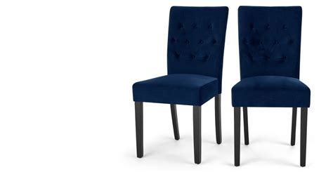 Royal Blue Dining Chairs Set Of 2 Dining Chairs In Royal Blue Velvet Flynn Made