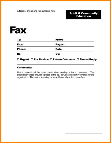 fax cover sheet template word 2010 fax cover template word portablegasgrillweber
