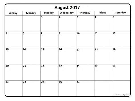 printable calendar 2017 fillable august 2017 calendar fillable