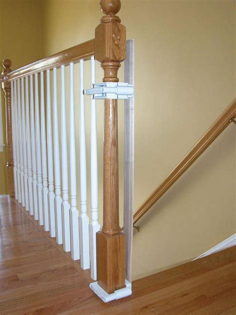safety gate banister kit amazon com kidkusion kid safe banister guard childrens