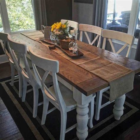 White Farm Dining Table Custom White Oak Farmhouse Table By Knottywoodcraftchs On Etsy Remodel Kitchen Ideas
