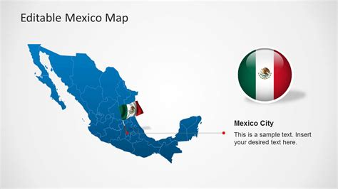Editable Mexico Map Template For Powerpoint Slidemodel Editable Powerpoint Templates