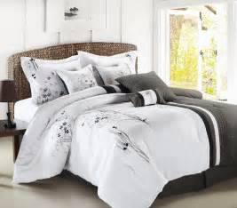 Gray And White Bedding Sets 8pc Luxury Bedding Set Emily Black Gray White Bedding And Comforter Sets Bedding Sets