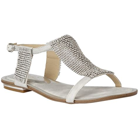flat silver shoes lotus agnetha silver diamante flat sandals buckle