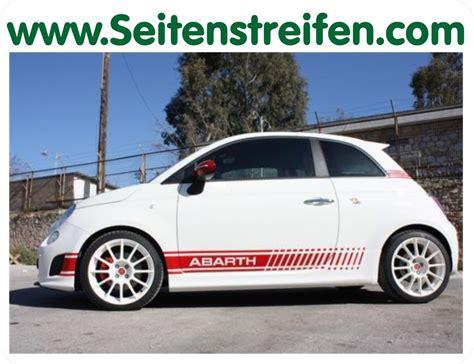 Abarth Schriftzug Aufkleber by Fiat 500 Abarth Evo Seitenstreifen Aufkleber Art Nr