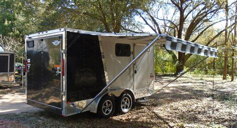c trailer awnings 2013 r c trailers middlebury trailers v nose toy hauler rv