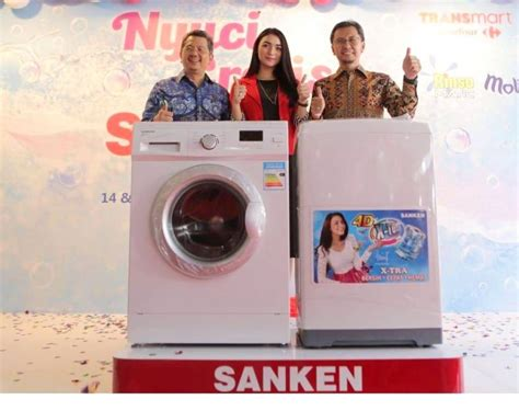Mesin Cuci Sanken Aws 830 makin pede di pasar mesin cuci sanken rilis 3 produk baru teknologi