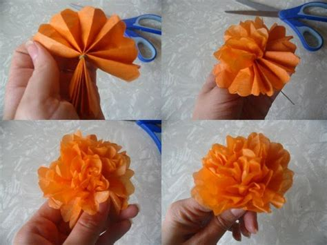 How To Make Mexican Paper Flowers Step By Step - 71 best children tissue paper flowers images on