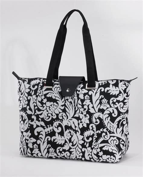 pattern for fold up tote bag hton fold up tote bag damask pattern china wholesale