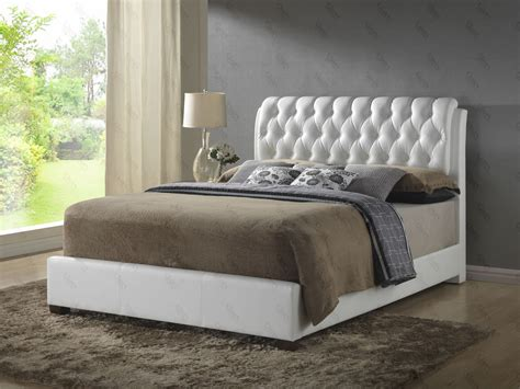 white leather quilted headboard bedroom set glo 1570 1799 best deal furniture